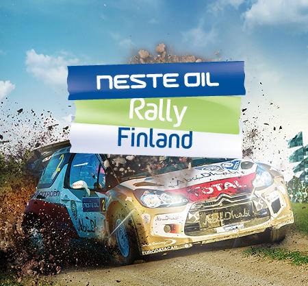 Neste Oil Rally Finland ilmeen uudistus, graafinen suunnittelu